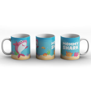 Pink Mommy Shark – Printed Mug