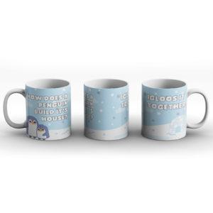 How does a penguin build it's house? Penguin joke – Printed Mug