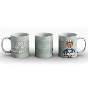 I love telling Dad jokes? Dad Joke – Printed Mug
