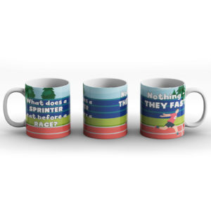 What does a sprinter eat before a race? Sprinter – Printed Mug