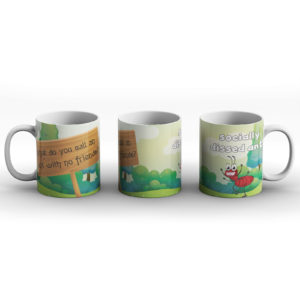 What do you call an ant with no friends? Ant joke – Printed Mug