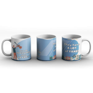 How do rockstars stay so cool? Rockstar joke – Printed Mug