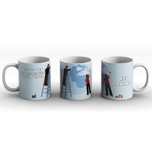 What's red and smells like blue paint? Paint joke – Printed Mug