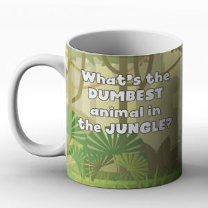 What's the dumbest animal in the jungle? Polar bear joke – Printed Mug