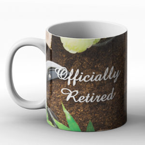 Officially Retired – Printed Mug