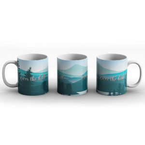 Over the hill – Printed Mug