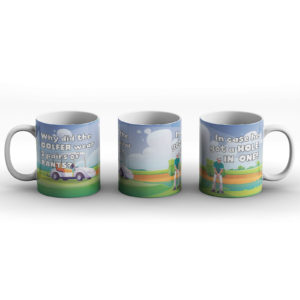 Why did the golfer? – Printed Mug