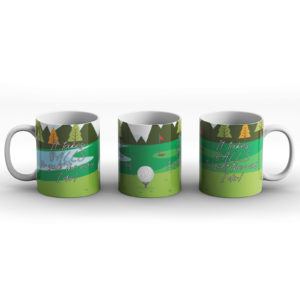 It takes balls to golf the way I do! – Printed Mug