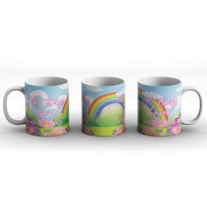 All things grow with love – Printed Mug
