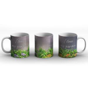 I love my garden – Printed Mug