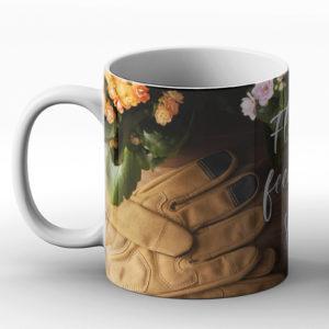 Flowers feed the soul – Printed Mug