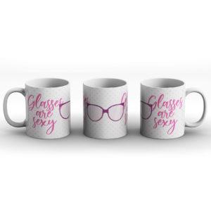 Glasses are sexy – Printed Mug