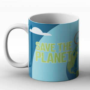 Save the planet, ride a bike – Printed Mug
