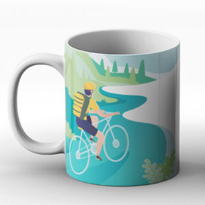 Life is better on a bike – Printed Mug