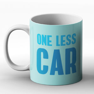 One less car – Printed Mug