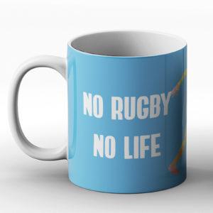 No Rugby No life – Printed Mug