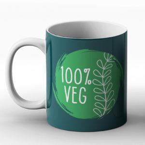 100% Veg – Printed Mug