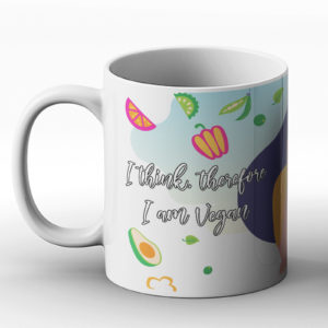 I Think Therefore I Am Vegan – Printed Mug