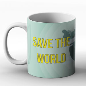 Save The World Go Vegan – Printed Mug