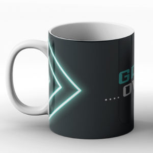 Game Over – Gaming Neon Lighting Design – Printed Mug