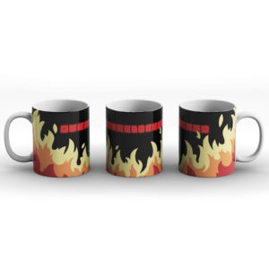 Overclocked On Fire Gaming PC Computer Design – Printed Mug