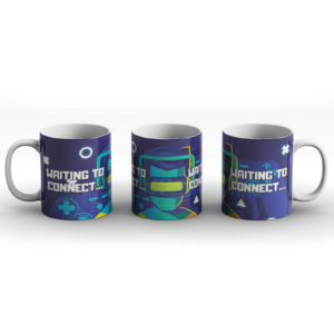 Waiting To Connect – Gaming Comsole PC Computer Neon Design – Printed Mug