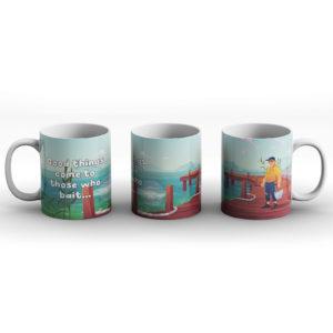 Good Things Come To Those Who Bait – Fishing Design – Printed Mug
