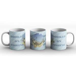 Hooked On Fishing – Printed Mug