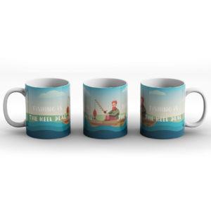Fishing Is The Reel Deal – Printed Mug