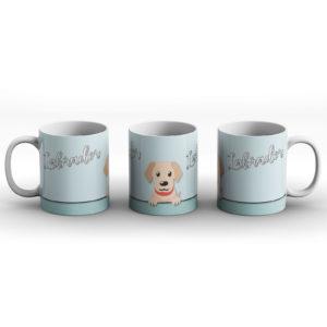 Labrador – Cute Dog Paws Pastel Design – Printed Mug