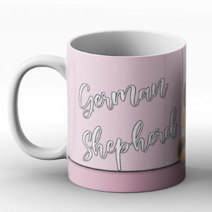 German Shepherd – Cute Dog Paws Pastel Design – Printed Mug