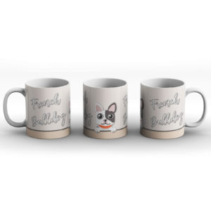 French Bulldog – Cute Dog Paws Pastel Design – Printed Mug