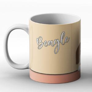 Beagle – Cute Dog Paws Pastel Design – Printed Mug