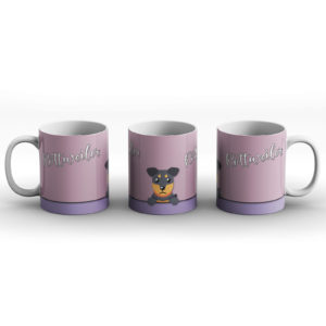 Rottweiler – Cute Dog Paws Pastel Design – Printed Mug