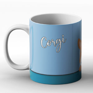 Corgi – Cute Dog Paws Pastel Design – Printed Mug