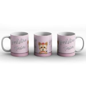 Yorkshire Terrier – Cute Dog Paws Pastel Design – Printed Mug