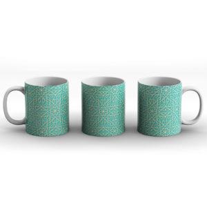 Geometric Pattern Design Aztec Turquoise – Printed Mug