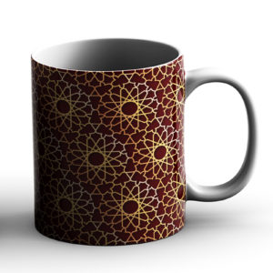 Geometric Pattern Design Burst Red – Printed Mug