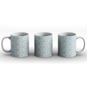 Geometric Pattern Design Circles Life Light Blue – Printed Mug