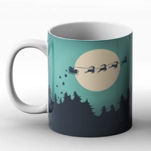 Christmas Santa Social Distance – Printed Mug
