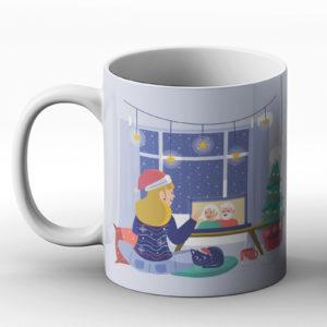 Christmas Together Digitally – Printed Mug