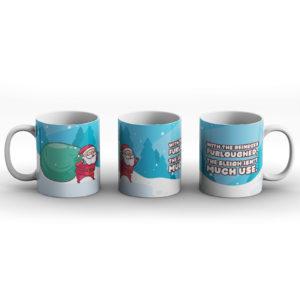 Christmas Furloughed Reindeer – Printed Mug