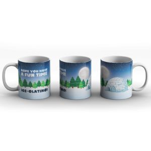 Christmas Isolating Pun – Printed Mug