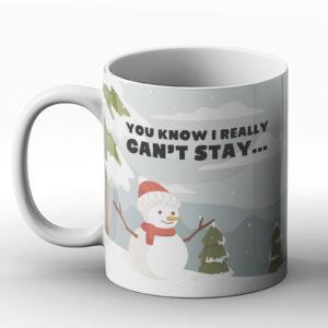 Christmas Cold Outside Pun – Printed Mug