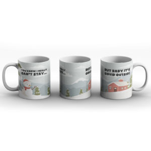 Christmas Cold Outside Pun – Printed Mug