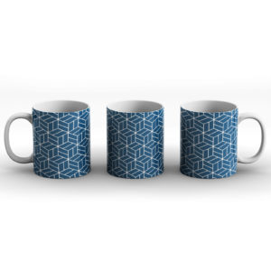 Japanese Traditional Geometric Pattern Design Kagome Meshes – Printed Mug