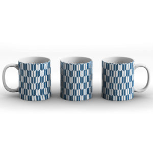 Japanese Traditional Geometric Pattern Design Yabane Arrows – Printed Mug