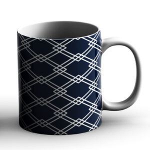 Japanese Traditional Geometric Pattern Design Hishi Rhombus – Printed Mug
