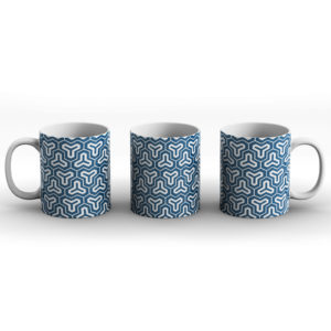 Japanese Traditional Geometric Pattern Design Kikko Hexagons 2 – Printed Mug