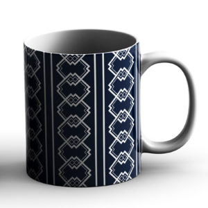 Japanese Traditional Geometric Pattern Design Tatewaku Waves – Printed Mug